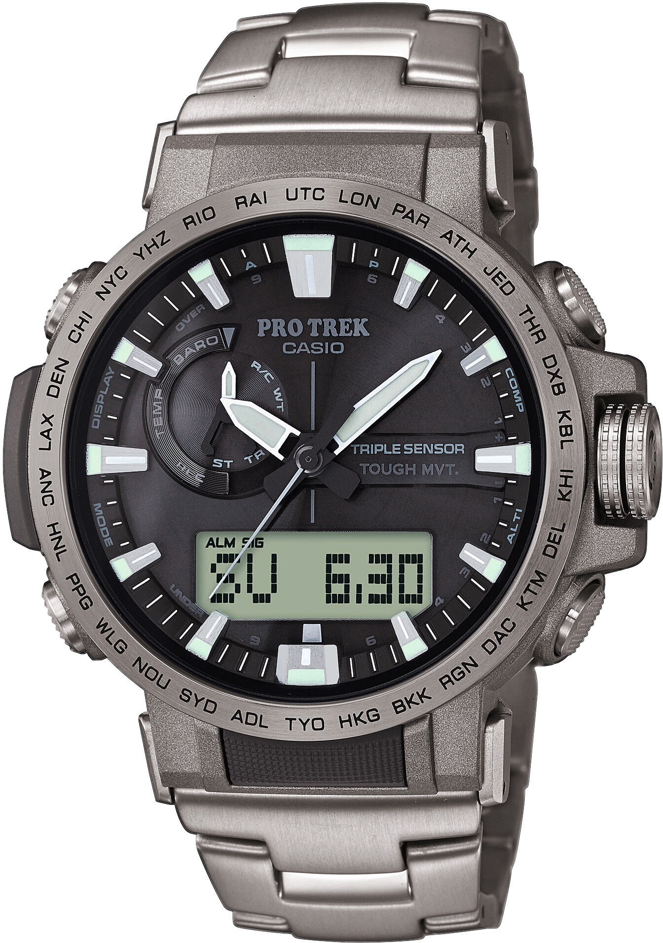 CASIO PRO TREK PRW 60T 7AER Montre Homme, silversilverblack